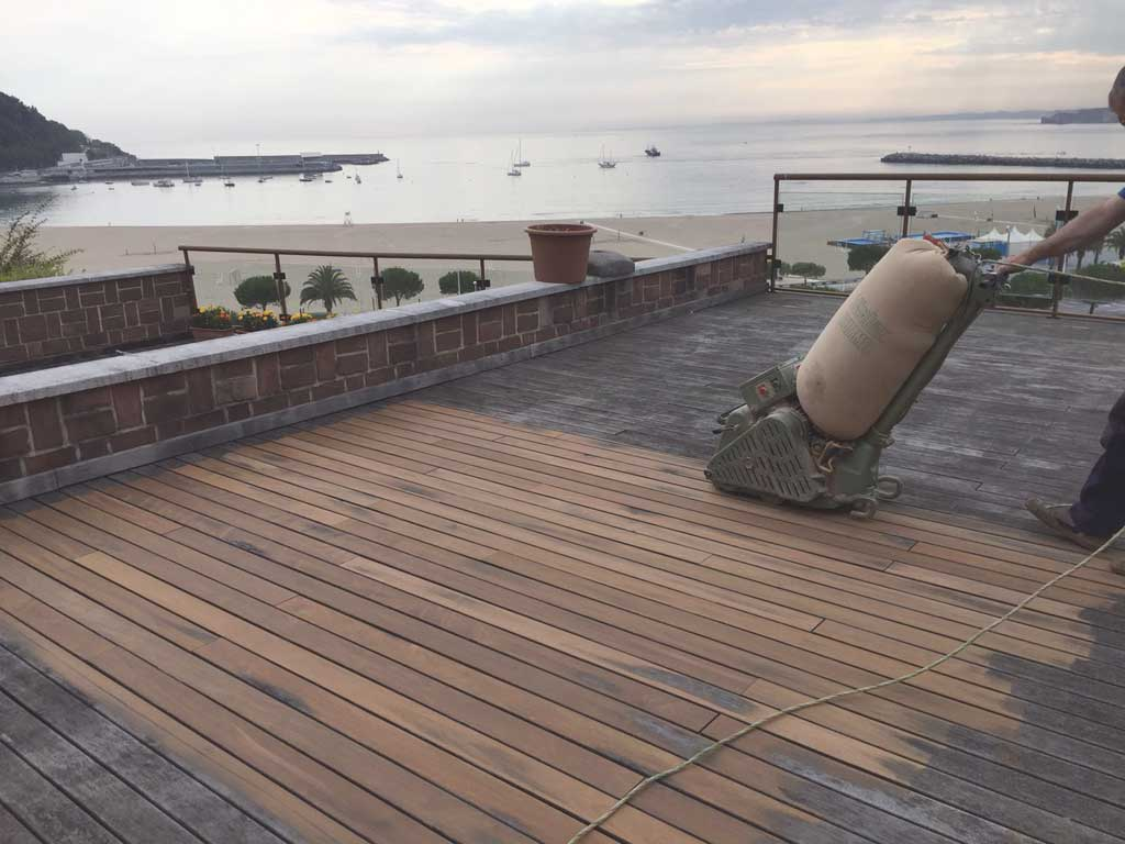 Mantenimiento terrazas de madera