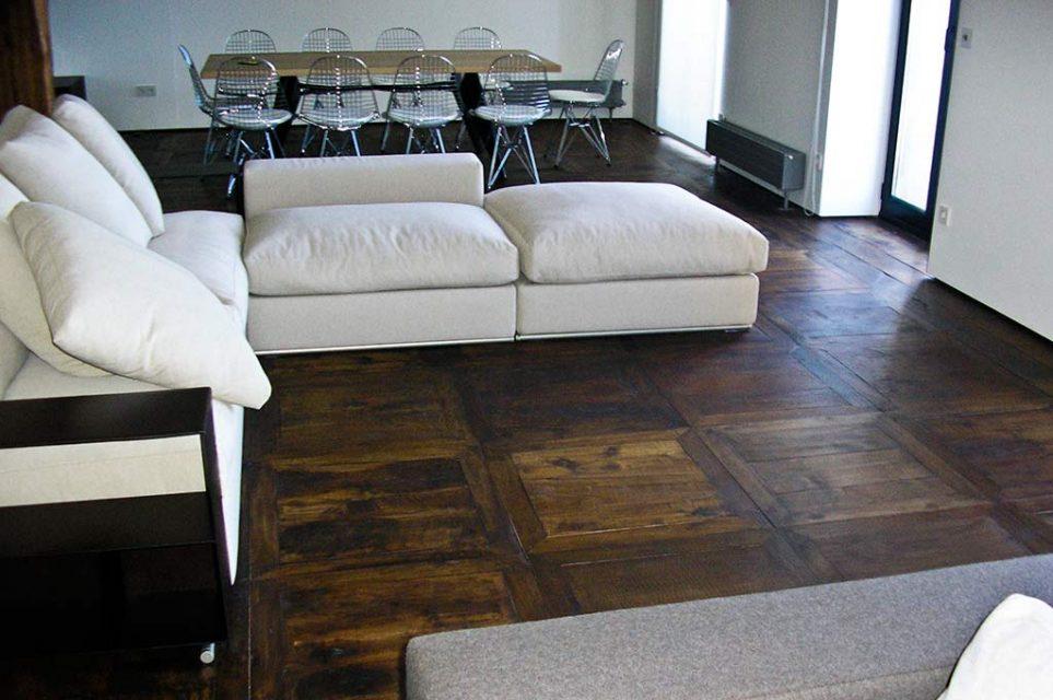 restauracion suelo de madera recuperada